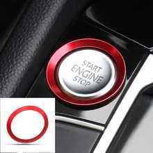 For VW Golf 7 MK7 GTI R Jetta CC Arteon Car Start Engine Stop Button Cover Trim Auto Interior Stickers Ring Cover Trim