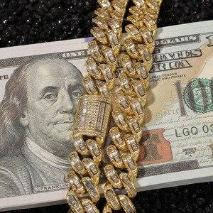 Image 1 - Hip Hop Micro Pave AAA sześcienne cyrkonie Bling Iced Out plac CZ kamień kubański Link Chain Chokers naszyjniki dla mężczyzn biżuteria raper