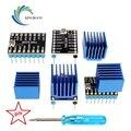 4 個スーパーサイレント TMC2208 V2.0 ステッピングモータドライバモジュール用 3D プリンタマザー目的 VS TMC2100 追加 1Pc ドライバー