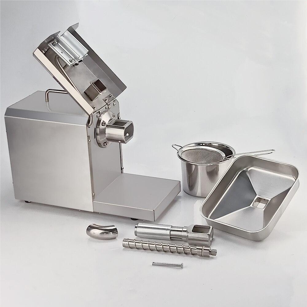 Mini máquina da imprensa de óleo do agregado familiar 700 w controle de temperatura presser de óleo automático para amendoins, gergelim, óleo de coco - 6