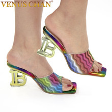 New Arrival Shoes for Women Sandals African Dress Women Nigerian Women Wedding Shoes Decorated with Rhinestone Party Pumps