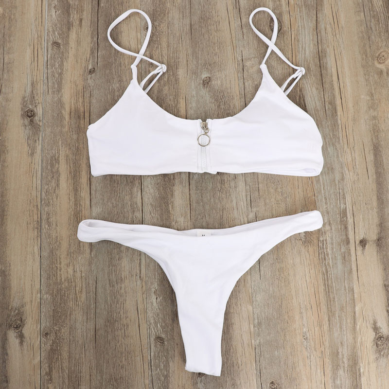 Two-Piece Suits Womens 2019 New Swimsuit Sexy Swimwear Swimming Suit Quick-dry Bathing Push Up Low Waist Pad Beachwear
