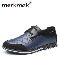Sapatas Dos Homens Tamanho grande Moda 2019 Outono Genuínos Homens De Couro Sapatos Casuais Handmade Retro Respirável lace-up Calçado Dropshipping