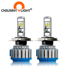 H4 9003 H13 9007/HB5 9004 Hi Lo wiązka zestaw żarówek LED do reflektorów samochodowych 8000LM biały 6000K zastąpić żarówka do reflektorów samochodowych lampy światła przeciwmgielne