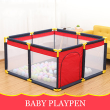 Portable Baby Playpen Fence ABS Plastic Pipe Baby Climbing Play Fence Toddler Indoor Safety Play Pool Child Protection Fence baby playpen kids fence playpen plastic baby safety fence pool 6 months like this have space for an actual playroom