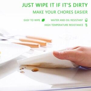 Image 4 - لينة الزجاج قماش PVC مقاوم للماء مكافحة النفط الساخن البلاستيك شفاف مفرش المائدة منضدة طعام حديثة القماش/غطاء المطبخ