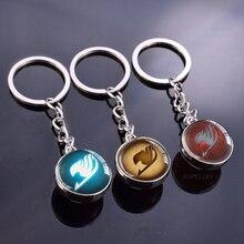 Fairy Tail(Guild) логотип хрустальный шар брелок двухсторонний стеклянный шар кабошон ювелирные изделия Аниме Кулон подарки для Косплей любовника