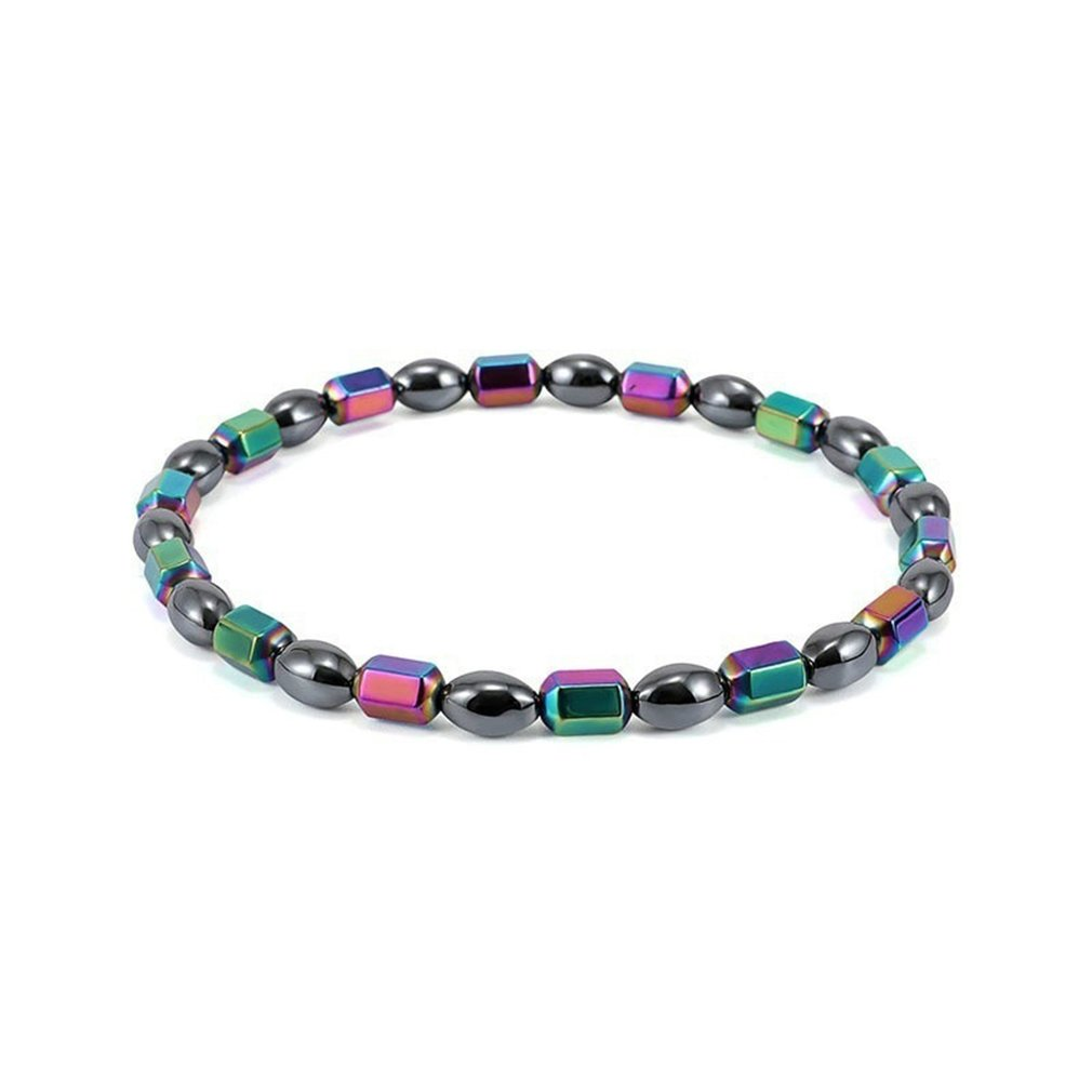 Magnetic Therapy Colorful Anklet Laser Beads Foot Chain Healthy Weight Loss Fitness Ankle Bracelet