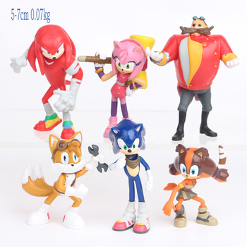 Sonic 6piece//set Doll Anime Figure Toys 4st Generation Boom Rare Dr Eggman Shado