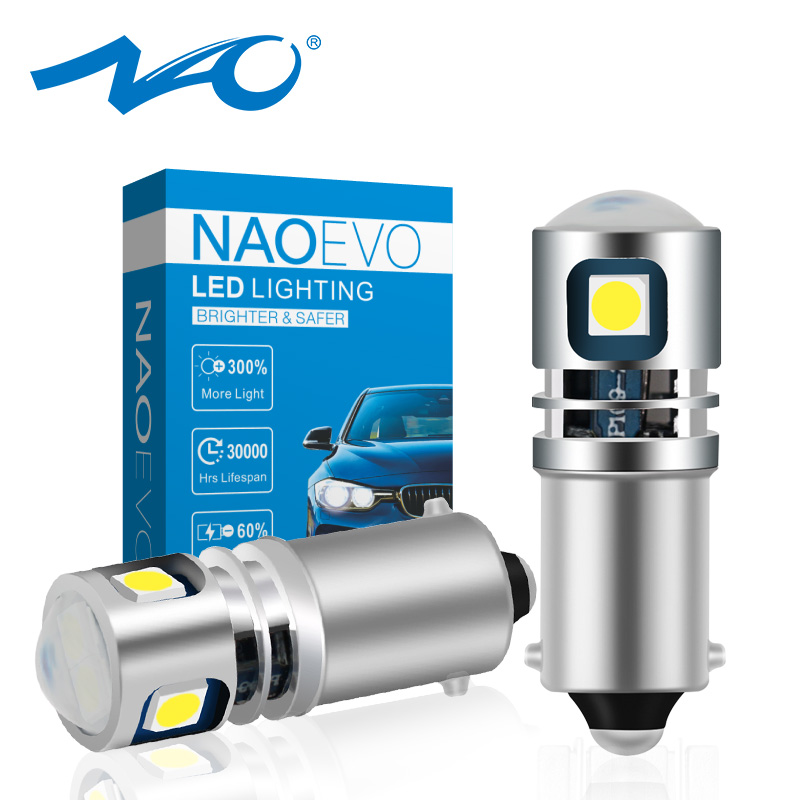 NAO BA9S <font><b>LED</b></font> T4W BAX9S <font><b>BAY9S</b></font> H6W 12V 24V <font><b>LED</b></font> For Auto Interior Lighting <font><b>H21W</b></font> Rear Fog lights White H5W Car License Plate Lamp image