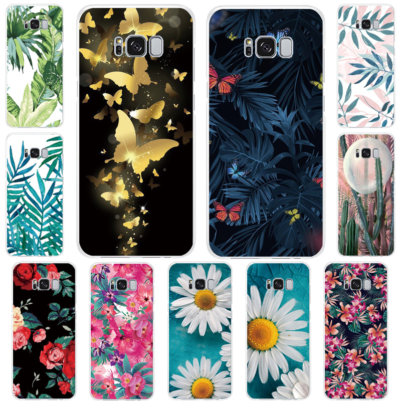 Plant, flower, butterfly, transparent soft case for Samsung J82018 J7Prime J7 J6Plus J52017 J4 J3 2018 J2 j4plus Silicone cover