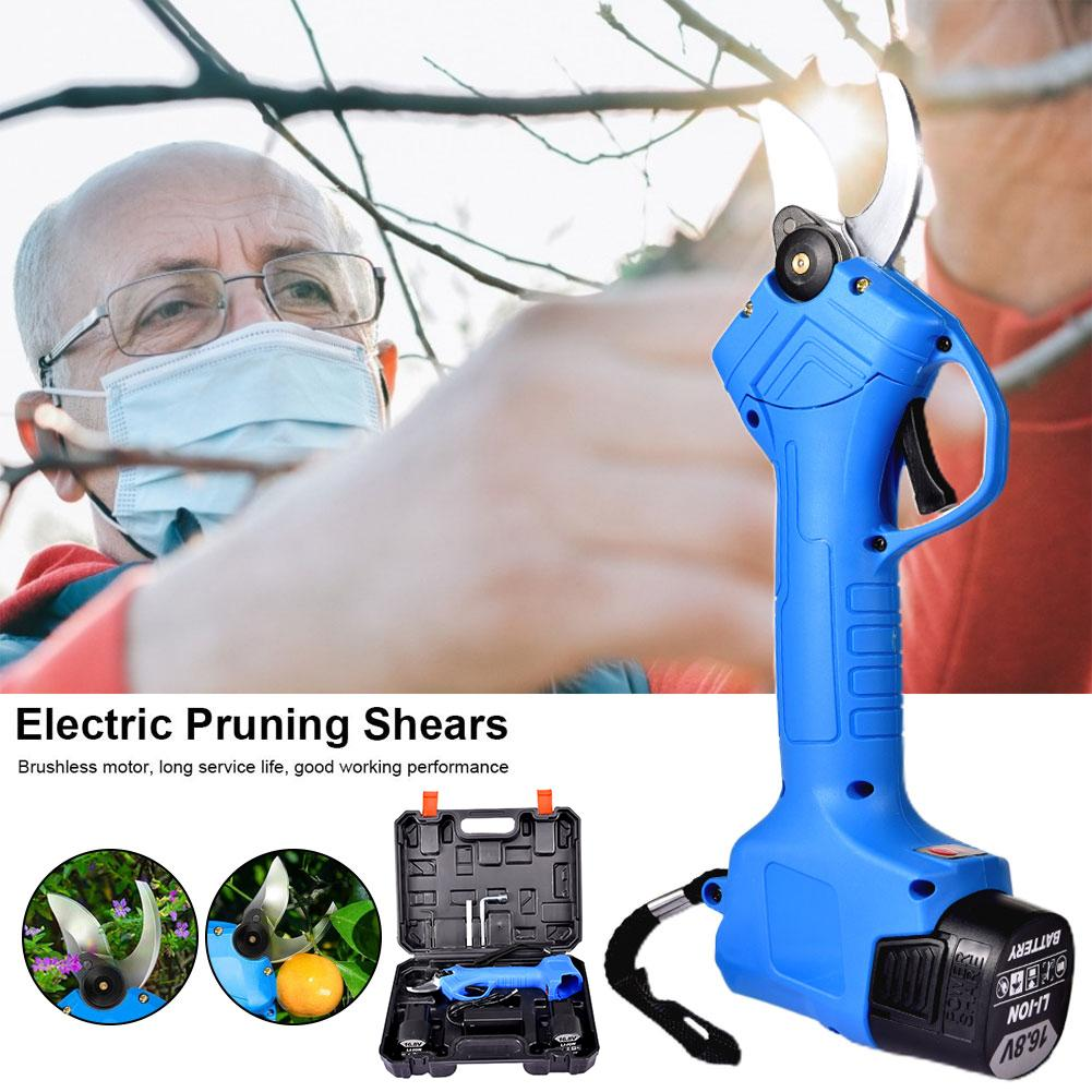 Electric Pruning Scissor Pruning Shears 600W 16 8V Rechargeable Garden Pruner Secateur Branch Cutter Cutting Tool With 2 Battery