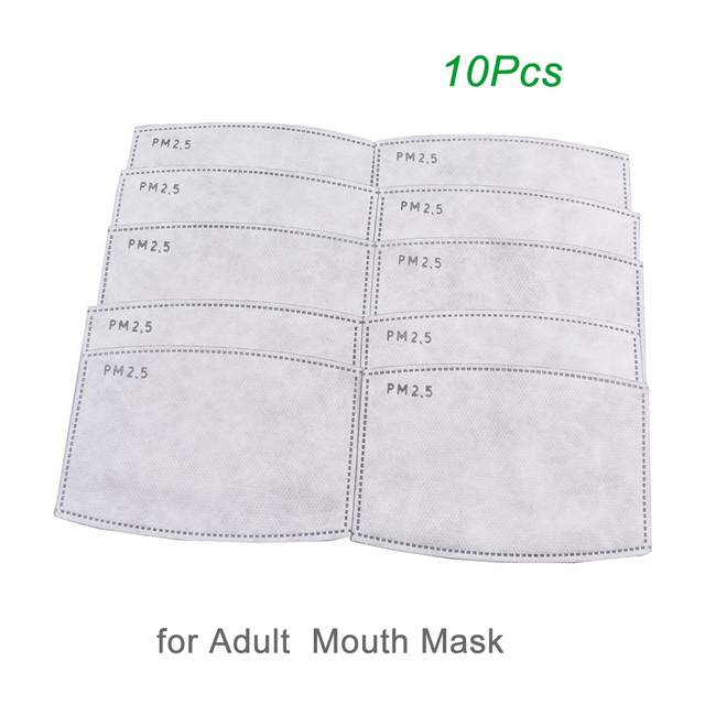 PM2.5 Cotton Black mouth Mask anti dust mask Activated carbon filter Windproof Mouth bacteria proof Flu Face masks Care 5