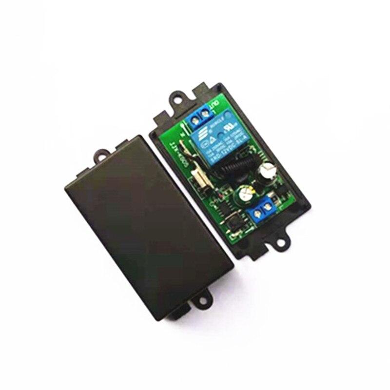 433 MHz ca 110V 220V sans fil 1CH RF émetteur télécommande commutateur + RF relais récepteur pour ouvre-porte de Garage léger