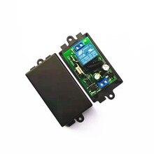 Interruptor inalámbrico de 433 MHz, CA de 110V, 220V, 1CH, TRANSMISOR DE RF, Control remoto, receptor de relé RF para abridor de puerta de garaje ligero
