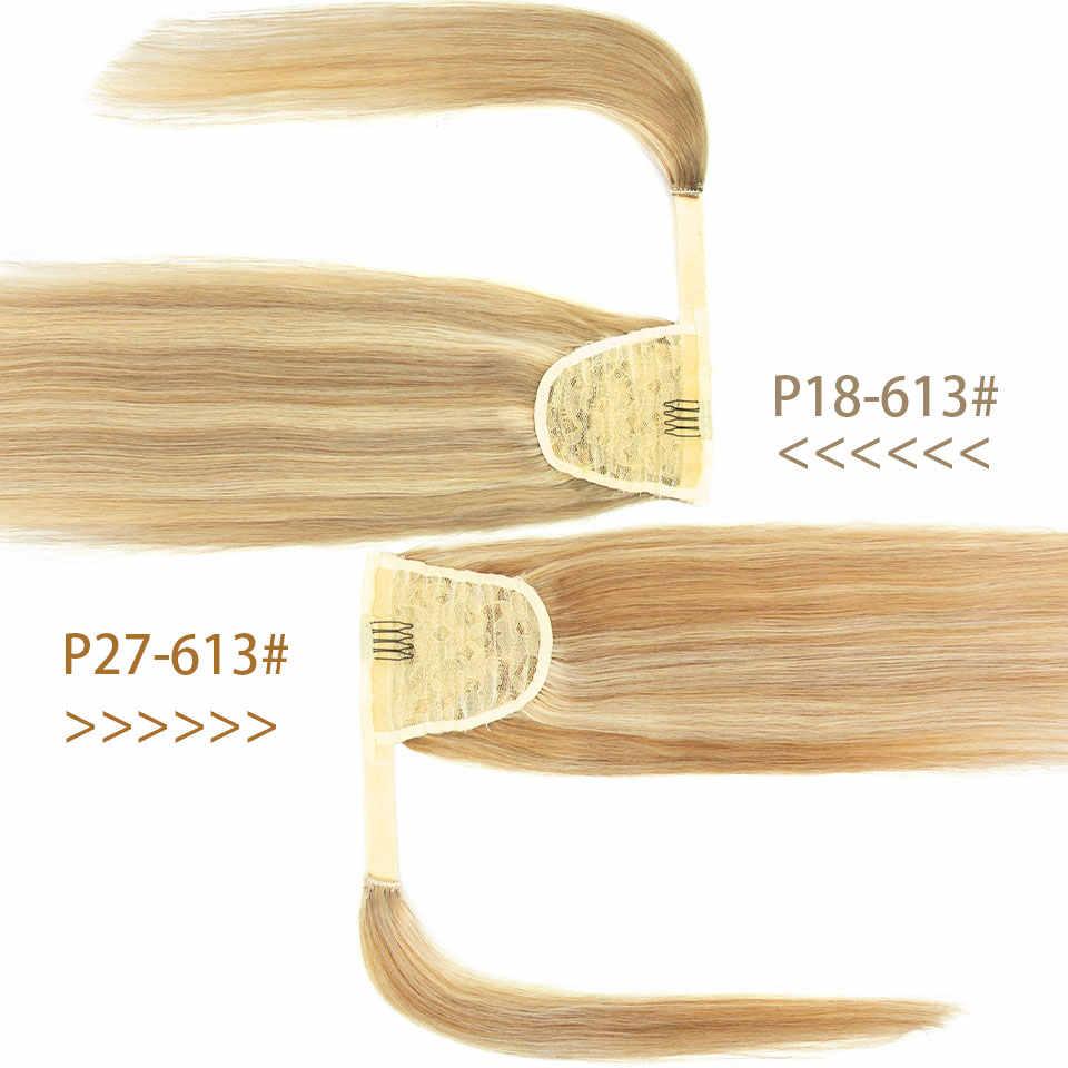 MRSHAIR Reale Natürliche Menschenhaar Pony Schwanz Haar Verlängerung Blonde Haar Wrap Pferdeschwanz Clip In Haarwebart-menschenhaarextensions Maschine Remy Haarteil