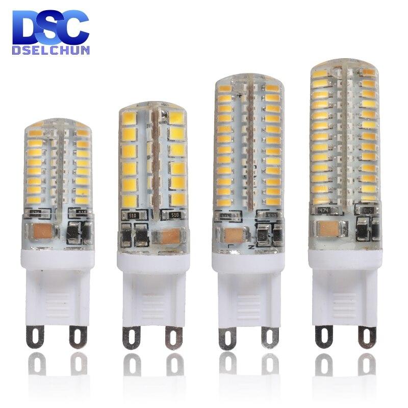 G9 светодиодный 3 Вт, 4 Вт, 5 Вт, 6 Вт, 220V-240V светодиодный G9 светильник светодиодный лампы SMD 2835 3014 Светодиодный G9 светильник вместо 30 Вт/60 Вт галог...