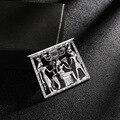 Винтажная Дворцовая пустая Геометрическая стереоскопическая прямоугольная египетская портретная золотистая металлическая брошь для жен...