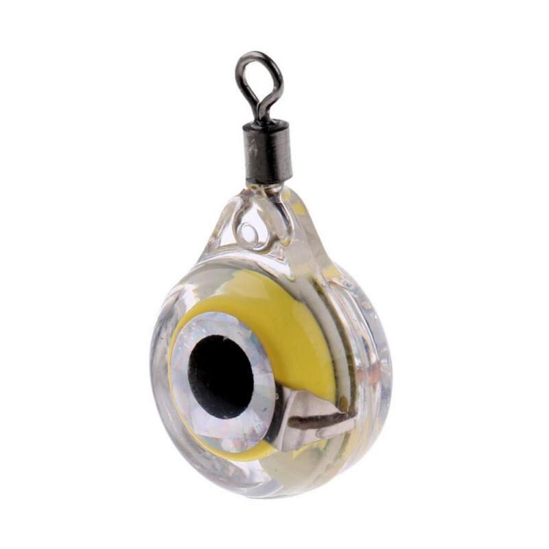 New 1Pc Mini Fishing Lure Light LED Deep Drop Underwater Eye Shape Fishing Squid Fishing Bait Luminous Lure For Attracting Fish