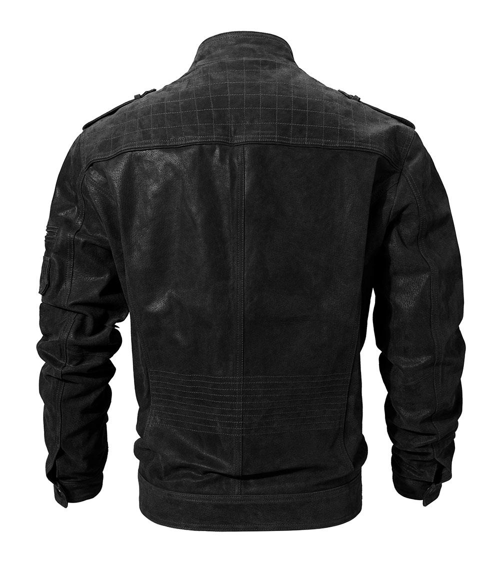 He9008ef4b9fd4abcbe2c9ebc40d89cc7Q Men's Pigskin Real Leather Jacket Genuine Leather Jackets Motorcycle Jacket Coat Men