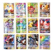 Cartes Pokemon brillantes GX EX MEGA TAG TEAM VMAX, jeu de combat et de commerce, jouet pour enfants, nouvelle collection 2021