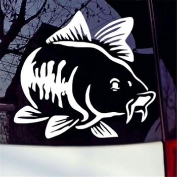 Cartoon Carp Car Sticker Pet Art Sticker Kayak Fishing Car Truck Car Motorcycle Sticker Car Sticker Accessories