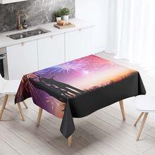 Прямоугольная скатерть для стола Декоративная с 3d рисунком