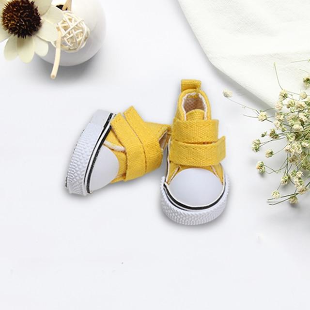 1 Pair 5 Centimetri Scarpe di Tela Bambola Scarpe Seakers Bambola Giocattolo Calzature di Sport Scarpe da Tennis per Bambini Giocattoli Del Regalo 6