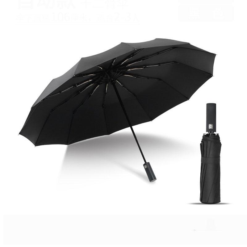Automatic Folding Umbrella Business Men 12K Parasol Windproof Women Solid Color Double Waterproof Umbrella Amour Parapluie Umbrellas     - title=