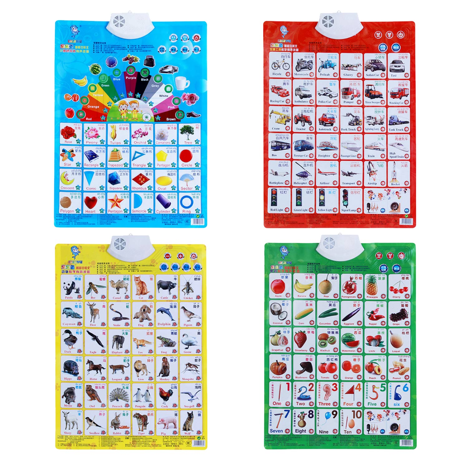 Besegad Kids Educational English Chinese Sound Wall Chart Poster For Children Toddlers Home Preschool Kindergarten Learning Toy