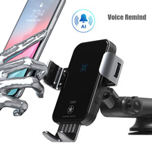 Qi Wireless Car Charger 15W Fast Charging for iPhone 11 XS X 8 Intelligent Infra