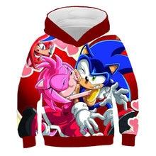 2021 3D Sonic baby Hoodies kids girls Cartoon Clothing for boys Clothes child Sweatshirt Harajuku Streetwear Tops