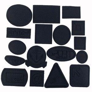 5 шт черный выражение ткань исправить железа на патчи для одежды наклейки шить на вышитые украшения аппликация