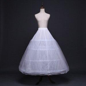 Image 1 - 2020 Braut Zubehör Hochzeit Petticoat Unterrock 4 Hoops Krinoline Petticoats für Ballkleid Hochzeit Kleider Jupon Günstige