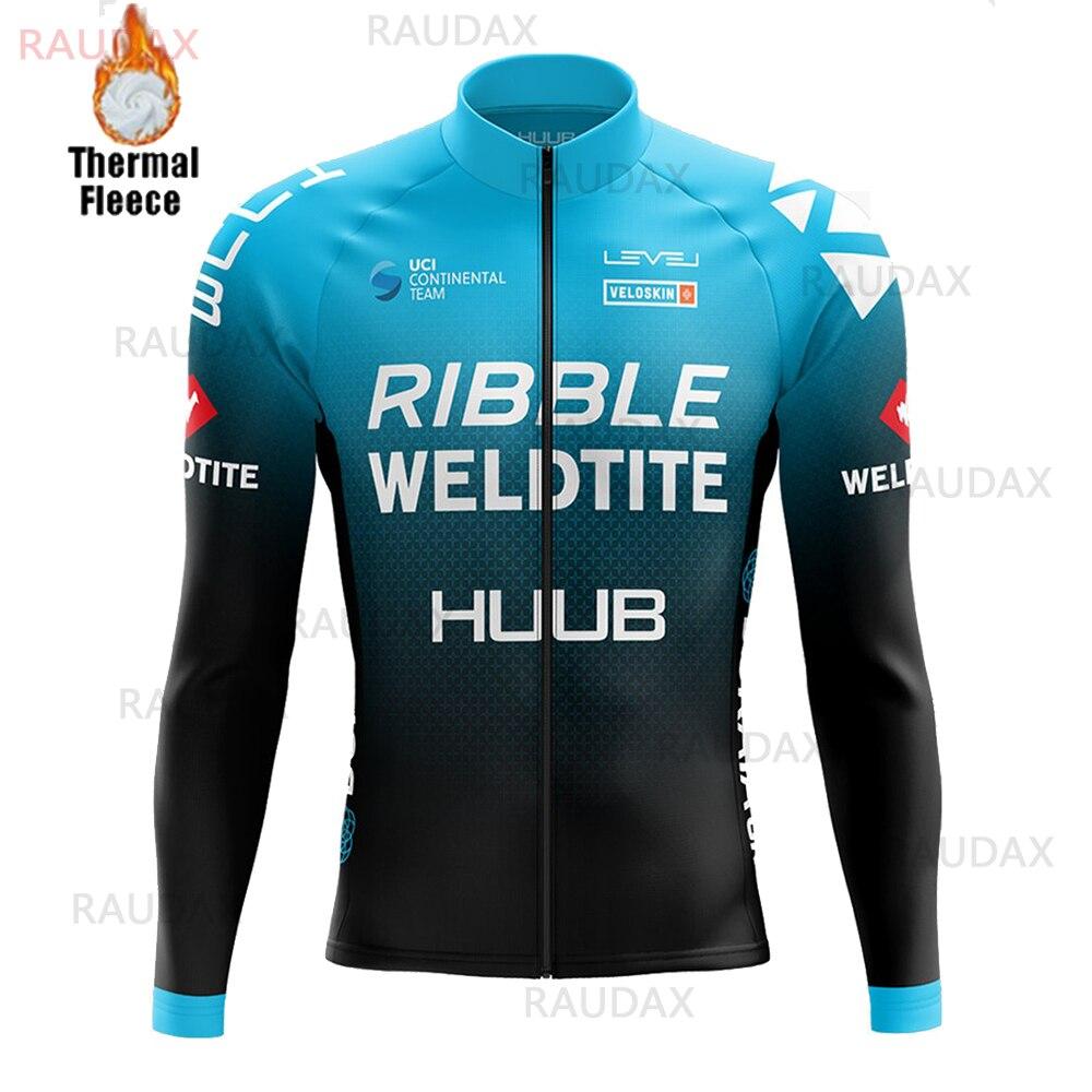 Трикотажная спортивная одежда Huub с длинным рукавом, зимняя теплая шерстяная одежда для триатлона, профессиональная велосипедная одежда дл...
