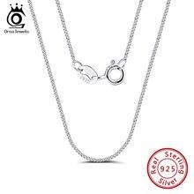 ORSA JEWELS Italian 925 Sterling Silver 1.0mm Side Chain Necklace Sterling Silver Pendant Necklaces Men Women Chain SC18-P
