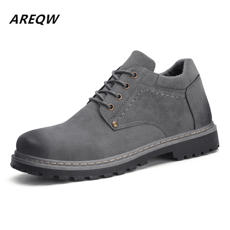 2019 Cattle Suede Comfortable Autumn And Winter Low To Help The New Fashion British Style Men's Martin Boots