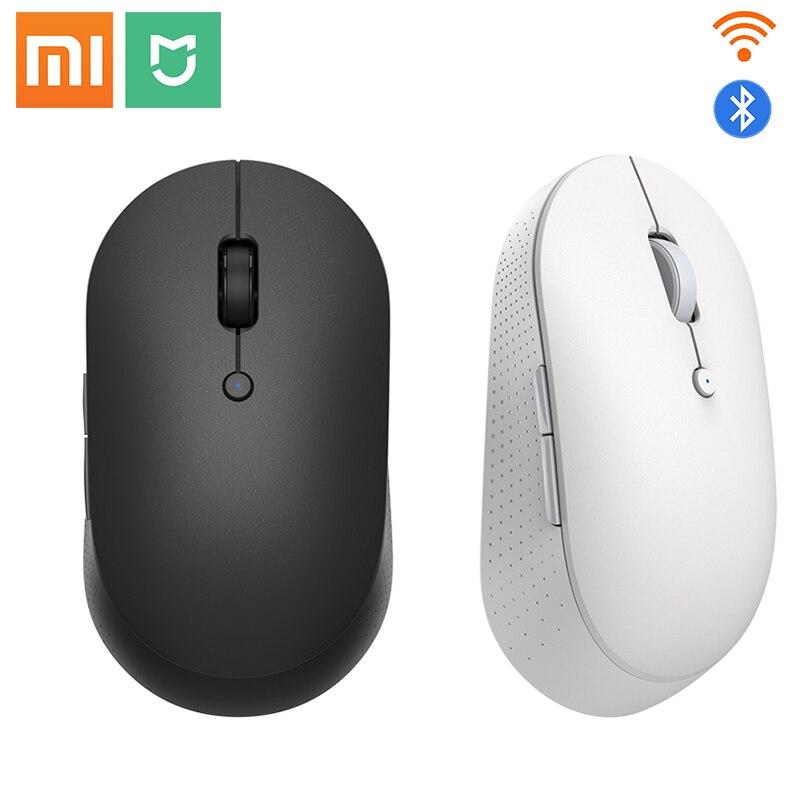 Оригинальная Беспроводная Двухрежимная мышь Xiaomi Mi, бесшумная эргономичная Bluetooth USB Боковая кнопка, портативная беспроводная мини-мышь для н...