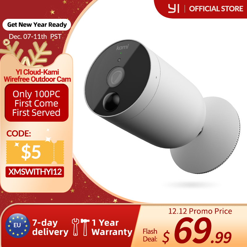 Permalink to Kami Wireless Outdoor Security Camera Wire-Free Battery-Powered Home Surveillance Human Detection with PIR Motion Sensor white