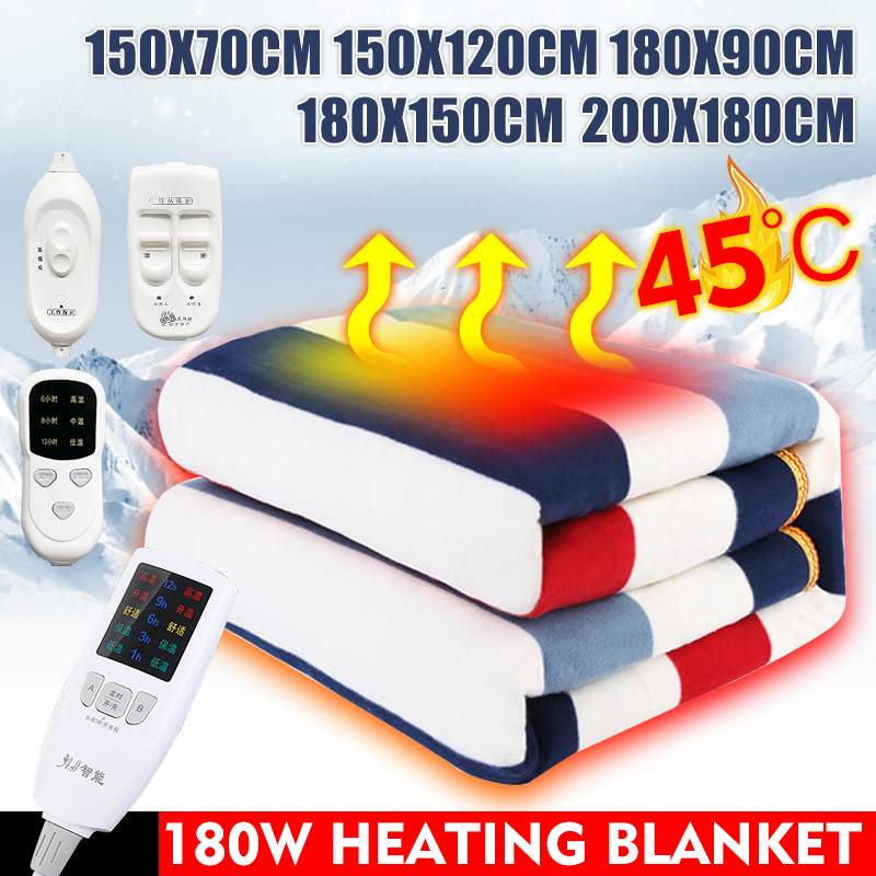 Single/ Double Person Electric Blanket Office Household Waterproof Heated Blanket Warm  Pad With Remote Control