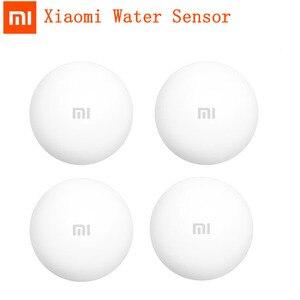 Image 1 - Xiaomi كاشف مياه الفيضانات ، إنذار أمان عن بعد ، يعمل مع Xiaoai ، مكبر صوت ، تطبيق Mijia ، للمنزل