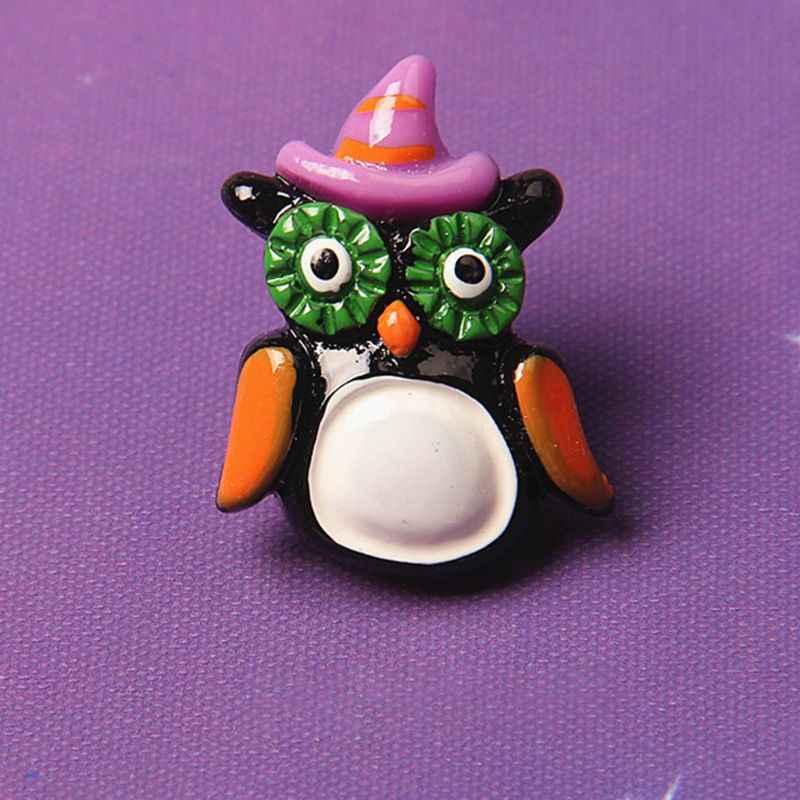 30Pcs Flatback Tombol Halloween Resin Enamel Diy Kerajinan Perhiasan Rakasa Hantu Tengkorak Bola Mata Scrapbooking Phonecase Dekorasi