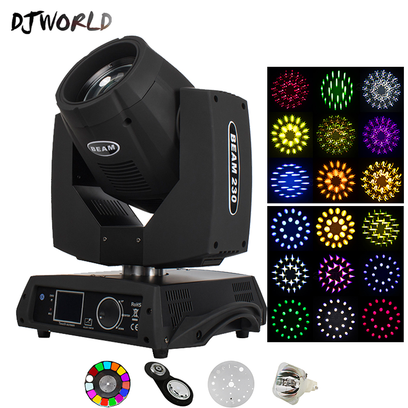 Djworld Bulb Beam 7R 230W Moving Head Light Stage Equipment DMX Light For Dj Disco Party Bar Professional Effect Lighting