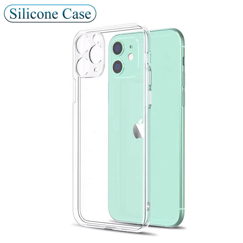 Luxury Silicone Case For Iphone 11 Pro Xs Max X Xr Transparent Full Camera Cover Soft Case For Iphone Se 2020 8 7 6s 6 Plus Slim