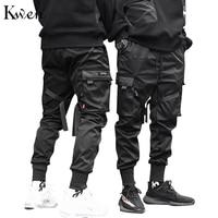 New Male Dancing Pant Harem Pant Men Streetwear Punk Hip Hop Casual Trousers Joggers The Men Multi pocket Elastic Waist S 3XL