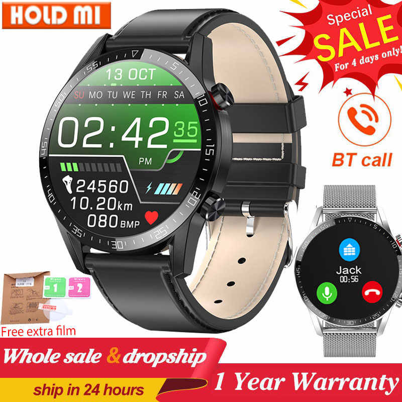 L13 Business Smart Horloge Mannen Bluetooth Call IP68 Waterdicht Ecg Druk Hartslag Fitness Tracker Sport Smartwatch Pk L8