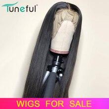 Синтетические волосы на кружеве парики из натуральных волос прямые предварительно выщипанные волосы детскими волосами 8-26 дюймов 13x4 150% Малайзии человеческих волос Синтетические волосы на кружеве парики