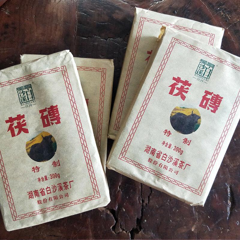 Baishaxi Anhua Dark Tea Fu Cha Brick Tea China Black Tea Bai Sha Xi Hei Cha 300g