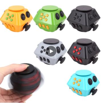 New Spinner Cube Antistress Magic Stress Cube Relieve Anxiety <font><b>Boredom</b></font> Finger Cube ToyCombination Stress Upgraded image
