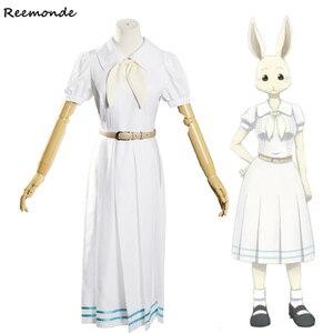 Anime Beastars Haru Cosplay Costume Lolita Haru Dress Skirt Women School Uniform White Rabbit Girls Japanese Uniform Outfit(China)